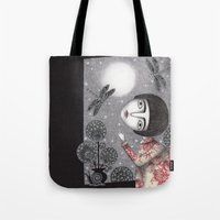 Night Sky. Dragonfly. Tote Bag