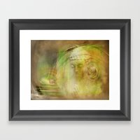 Buddha Illustration Framed Art Print