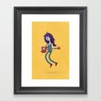 the vampire queen Framed Art Print