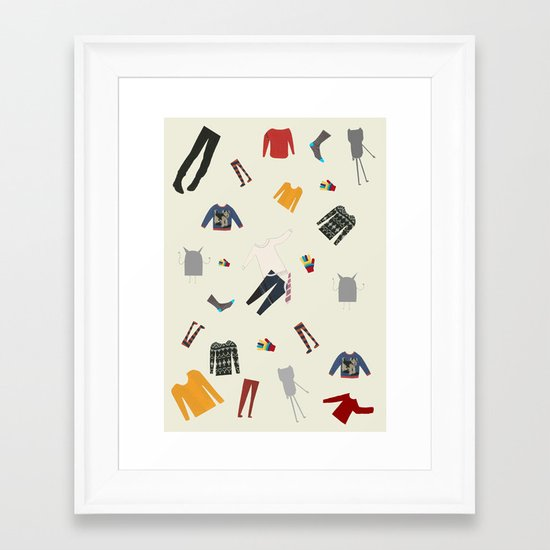 Clothes and monsters Framed Art Print