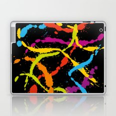 Splattered Rainbow [BLACK] Laptop & iPad Skin