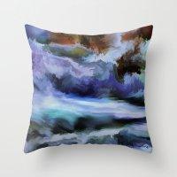 Wild Is The Sea Throw Pillow