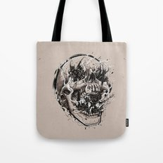 Skull With Demons Strugg… Tote Bag