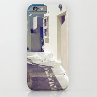 iPhone & iPod Case featuring Santorini Walkway II by istillshootfilm