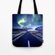 Road To Aurora  Tote Bag