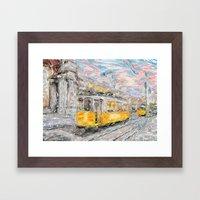 Lisbon trams Framed Art Print