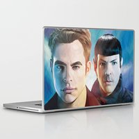 star trek Laptop & iPad Skins featuring Into Darkness  by Hellonsy