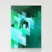 Emerald Elephant Stationery Cards