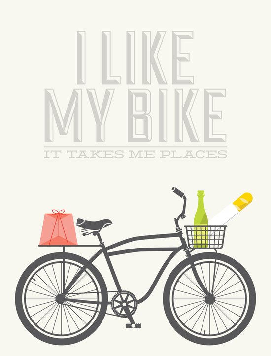 i like my bike Art Print