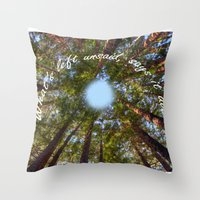 What's Left Unsaid, Says… Throw Pillow
