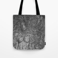 White Midnight Tote Bag