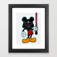 Darth Mouse Framed Art Print