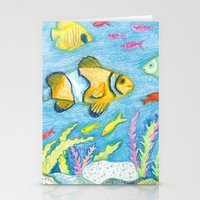 Crayon Fish #3 Stationery Cards