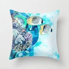 Great Barrier Reef Throw Pillow