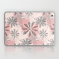 Spiral Flowers Pattern Laptop & iPad Skin