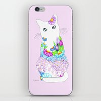 Blue-Eyed Lilac Kitty iPhone & iPod Skin