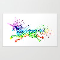 Unicorn - Licorne - Unicornio - Einhorn 02 Art Print