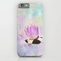 Painted Water Lily iPhone 6 Slim Case