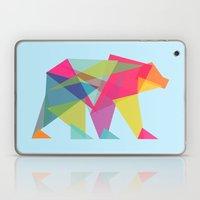 Fractal Bear - Neon Colo… Laptop & iPad Skin