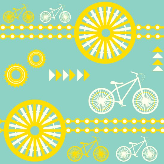 Saturday Bike Ride Art Print