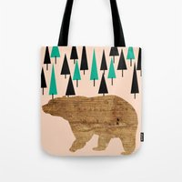 Bear in the woods Tote Bag