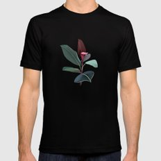 Ficus Elastica Mens Fitted Tee Black SMALL