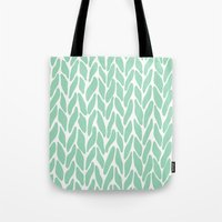 Hand Knitted Mint Tote Bag