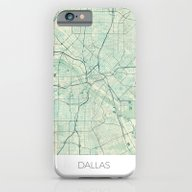 Dallas Map Blue Vintage iPhone 6 Slim Case