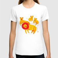 Lion Family Womens Fitted Tee White SMALL