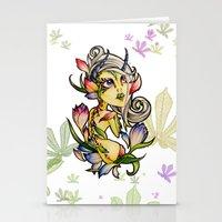 Dark Tulip Fairy Stationery Cards