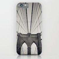 iPhone & iPod Case featuring Brooklyn Bridge B/W | New York City by Thomas Richter