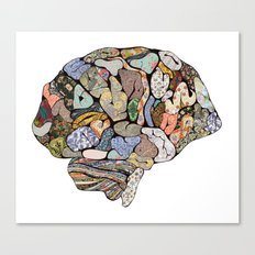 my brain looks different Canvas Print