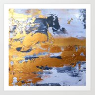 Art Print featuring Gold In The Ice by Haroulita