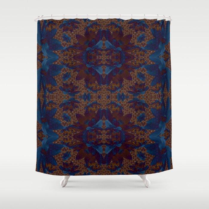 Blue Lotus Flower Shower Curtain By Minasparklina Society6
