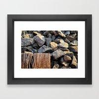 rocky roads Framed Art Print