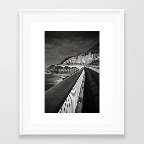 Sea Cliff Bridge Framed Art Print