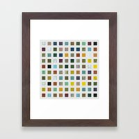 Rustic Wooden Abstract V Framed Art Print