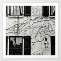 Vines on New York Building Art Print