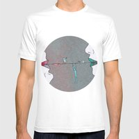 Thin Line Mens Fitted Tee White SMALL