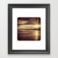 Sunrise On The Beach Framed Art Print