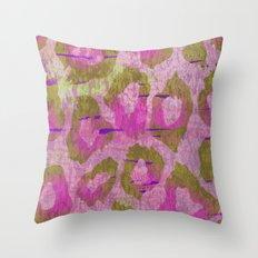 Leopard Sorbet Throw Pillow