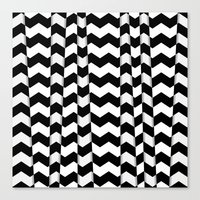 Chevron Pieces Canvas Print