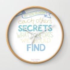 Each other's secrets Wall Clock