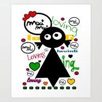 LOvinG MoOi MoOi Art Print