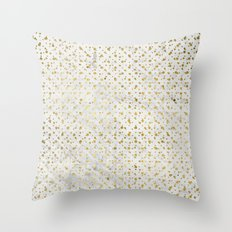 gOld grid Throw Pillow