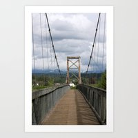 Across The Bridge And Be… Art Print