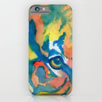 iPhone & iPod Case featuring Tiger Eye by mendydraws