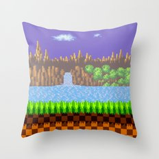 Green Hill Throw Pillow