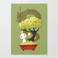 Bonsai Bunny Canvas Print