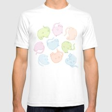 Cat Blobs Cats SMALL Mens Fitted Tee White